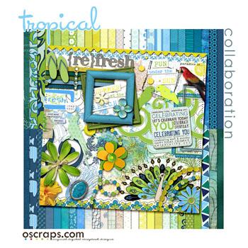 trOpical :: Oscraps Collaborative Kit