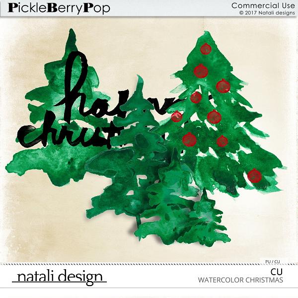 CU Christmas Watercolor