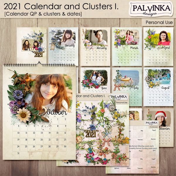 2021 - Calendar and Clusters I.