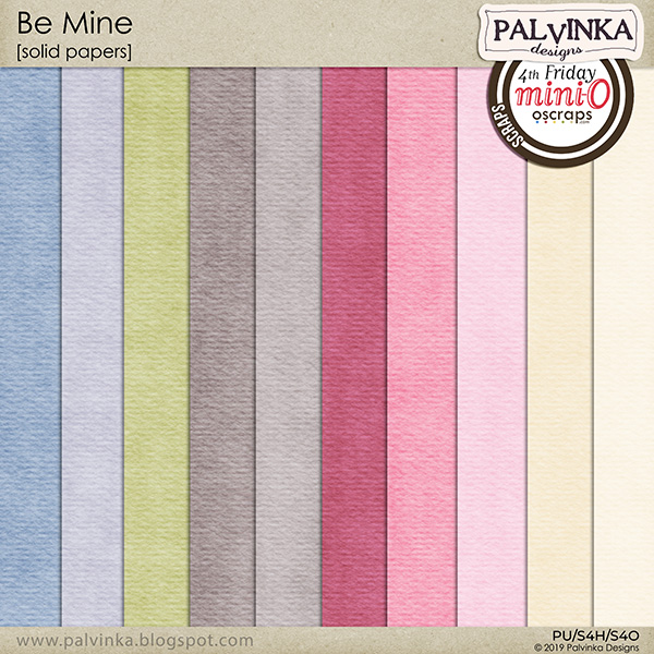 Be Mine Solid Papers