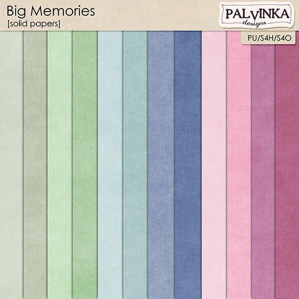Big Memories Solid Papers