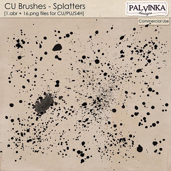 CU Brushes - Splatters