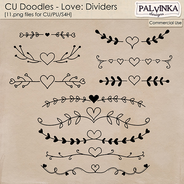CU Doodles - Love Dvididers