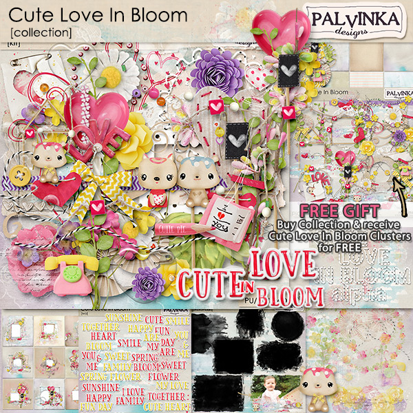 Cute Love In Bloom Collection + Free Gift