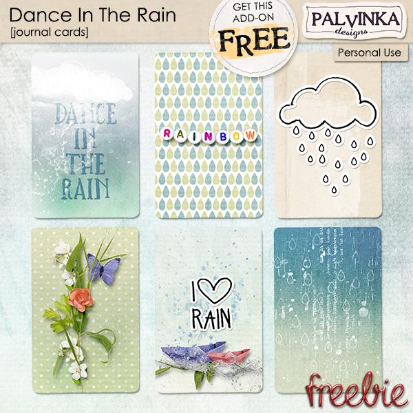 Dance In The Rain Journal Cards - Freebie