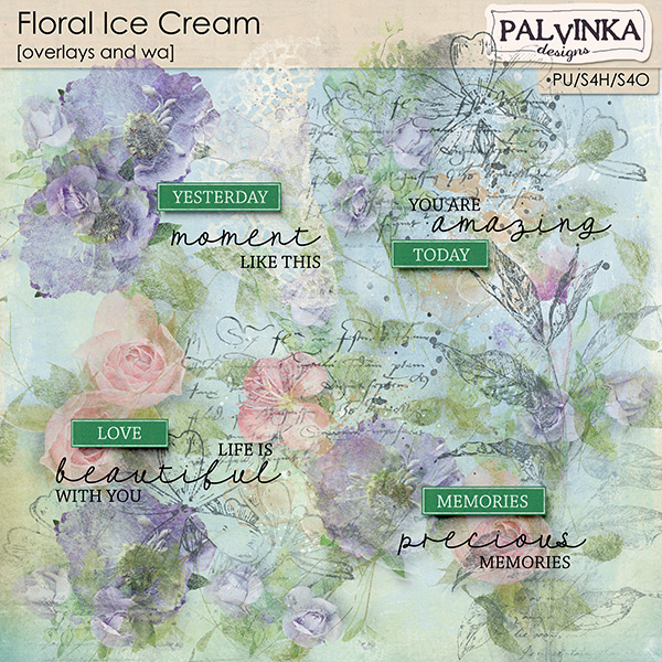 Floral Ice Cream Overlays and WA