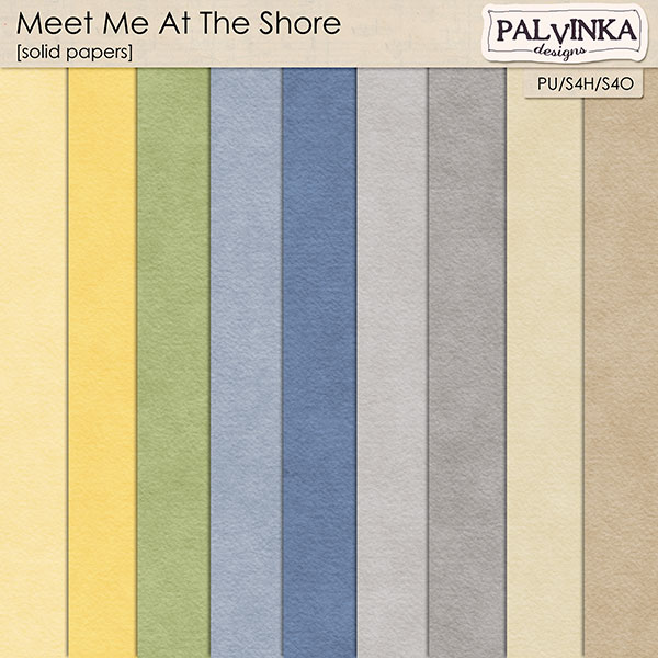 Meet Me At The Shore solid papers