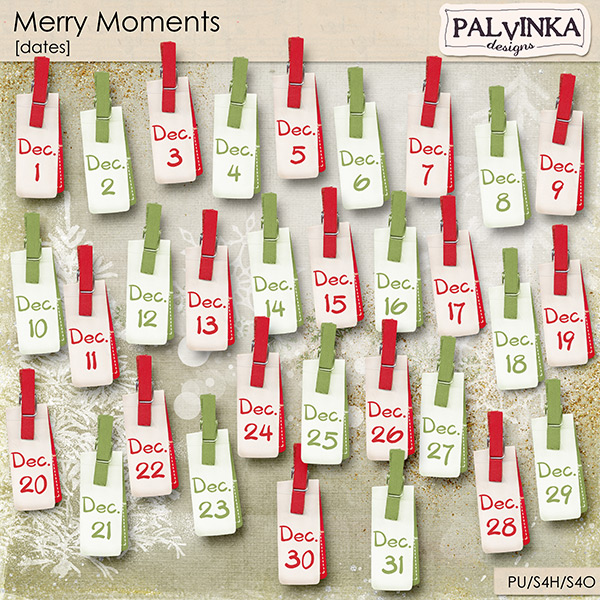 Merry Moments December Dates