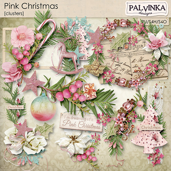 Pink Christmas Clusters