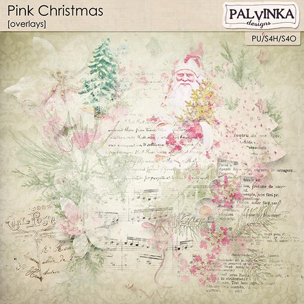 Pink Christmas Overlays