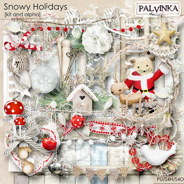 Snowy Holidays Kit and Alpha