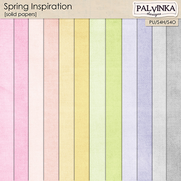 Spring Inspiration Solid Papers