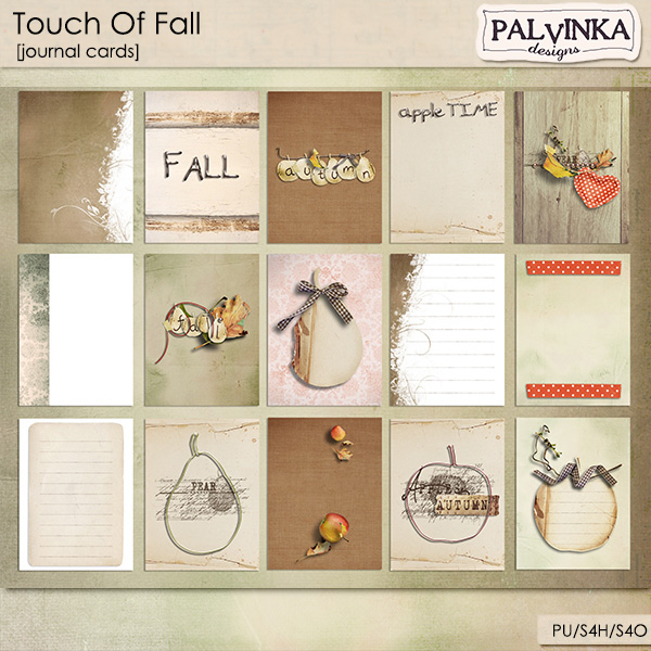 Touch Of Fall Journal Cards