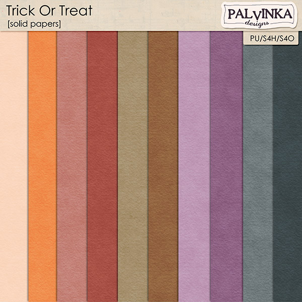 Trick Or Treat Solid papers
