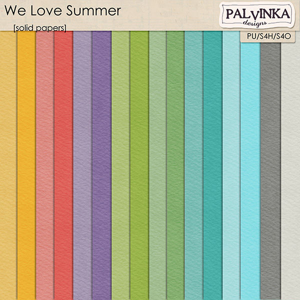 We Love Summer Solid Papers