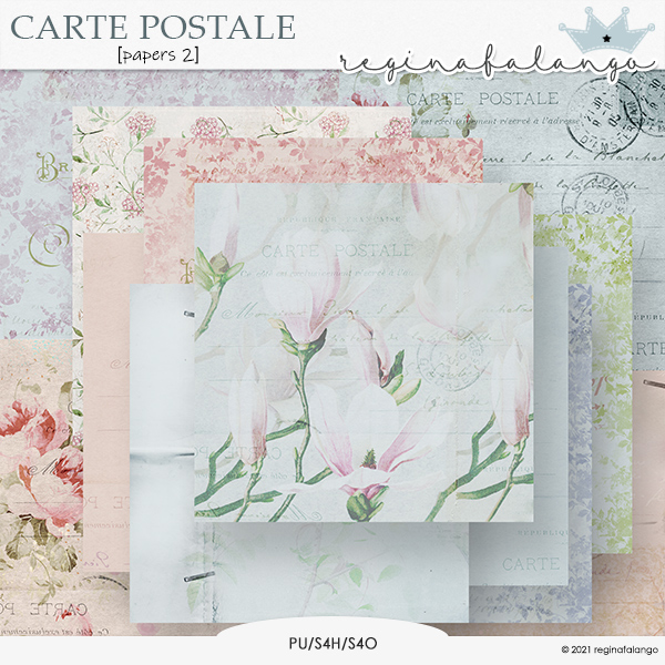 CARTE POSTALE PAPERS 1