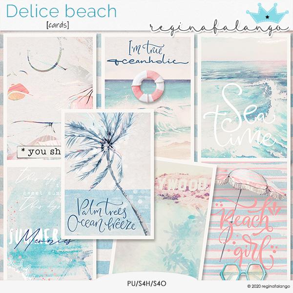 DELICE BEACH CARDS
