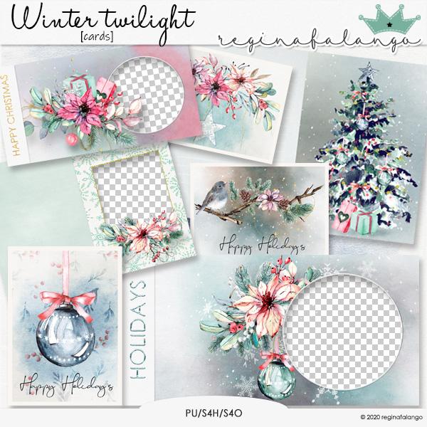 WINTER TWILIGHT CARDS