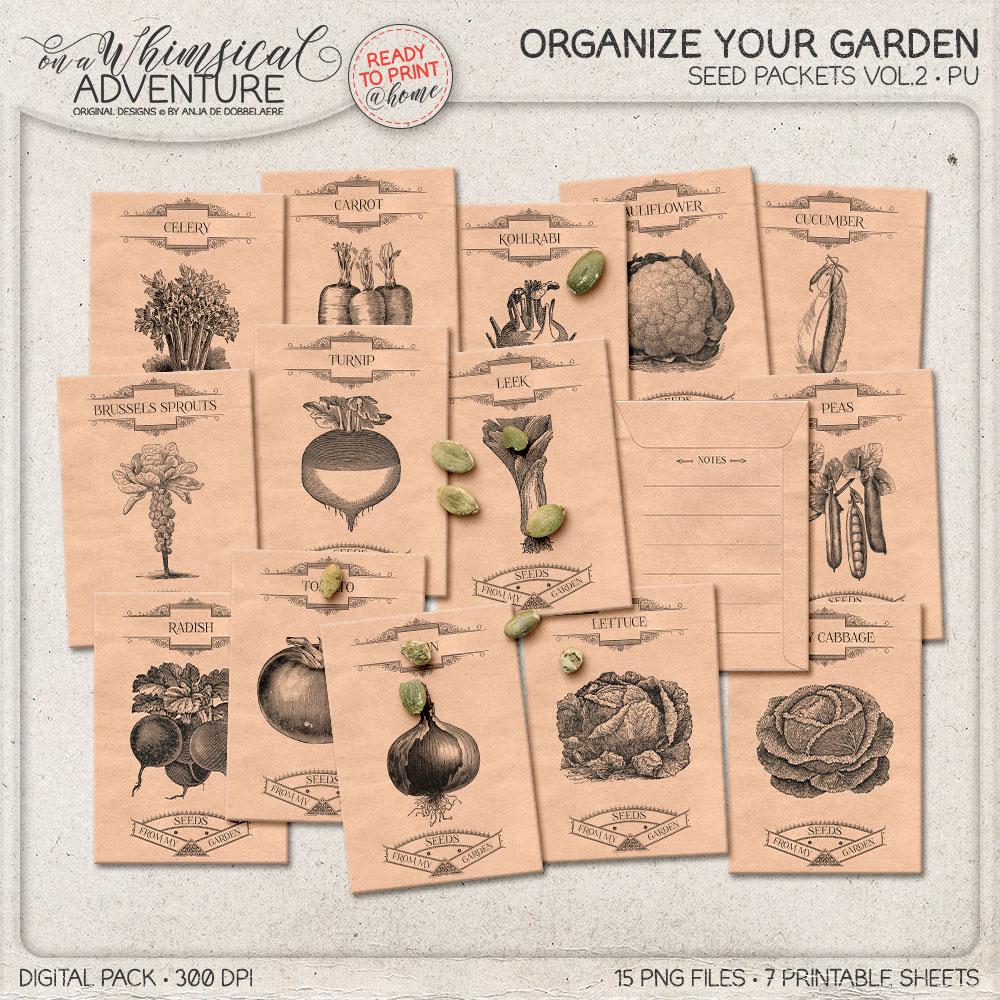 Seed packets by Whimsical Adventure
