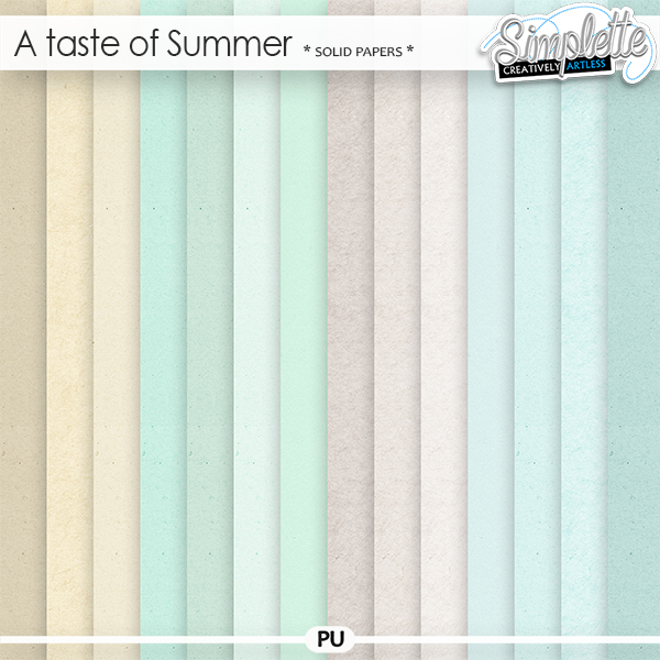 A Taste of Summer (solid papers)