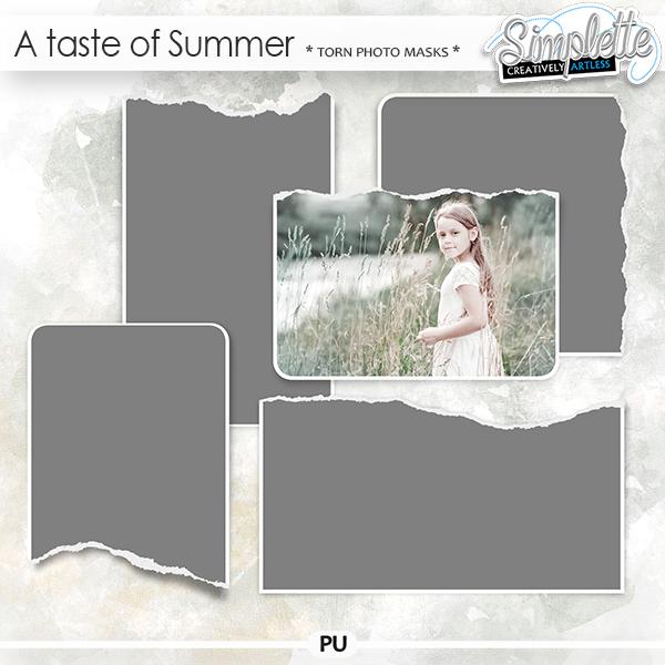 A Taste of Summer (torn photo masks)