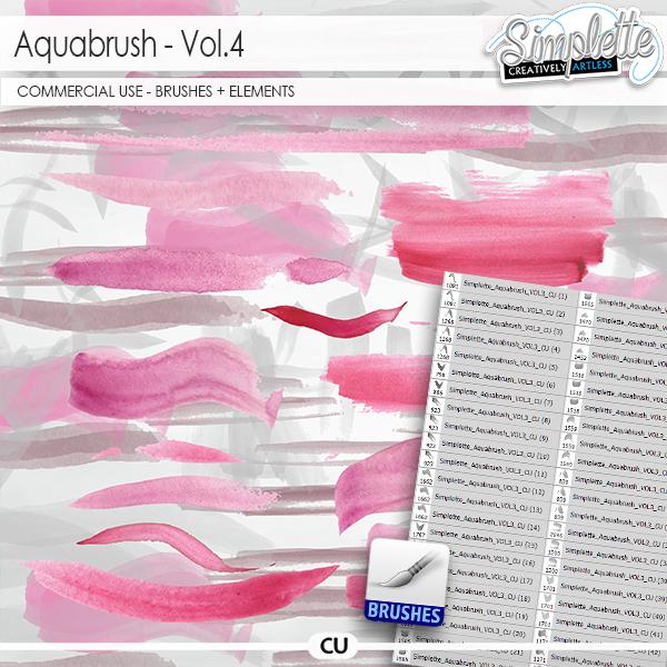 Aquabrush (CU elements + brushes) vol.4