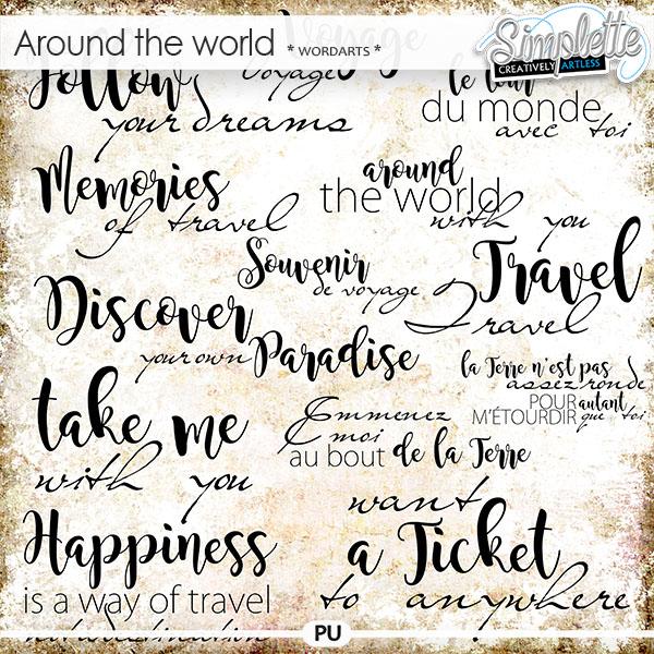 Around the World (wordarts)