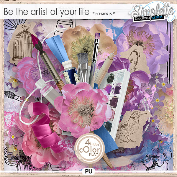 Be the artist of your life (elements) by Simplette