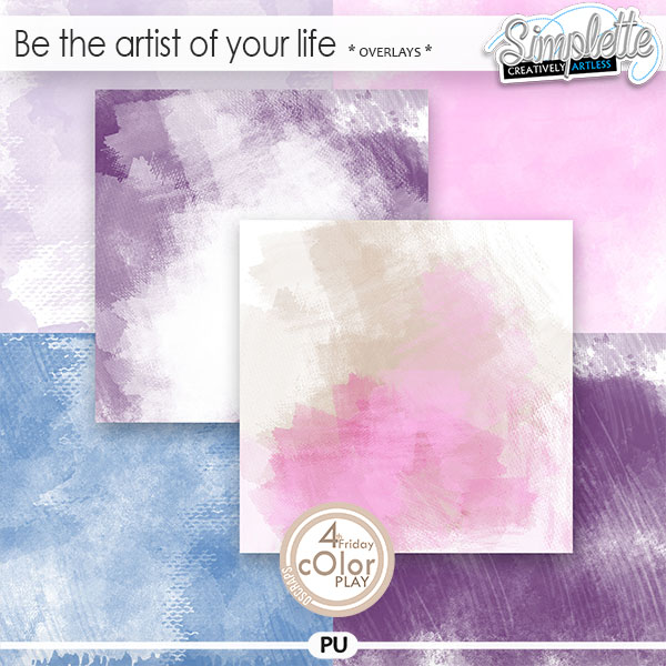 Be the artist of your life (overlays) by Simplette