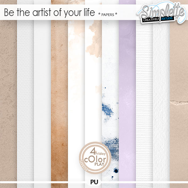 Be the artist of your life (papers) by Simplette