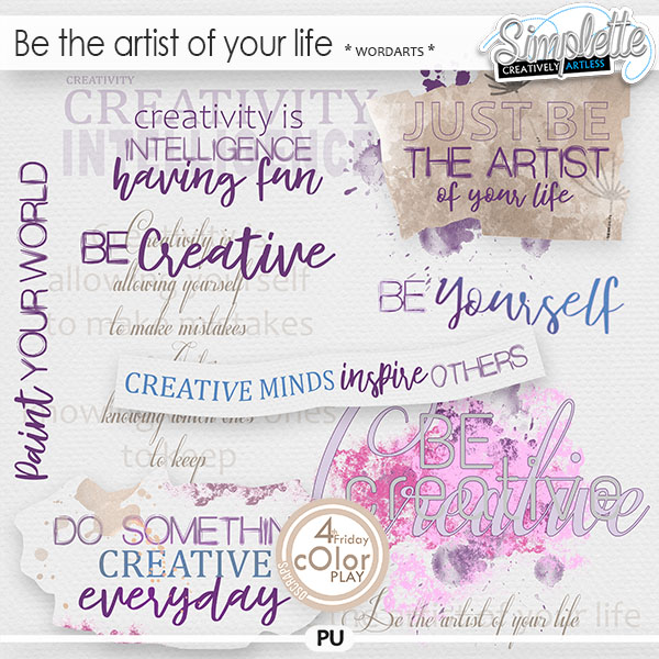 Be the artist of your life (wordarts) by Simplette