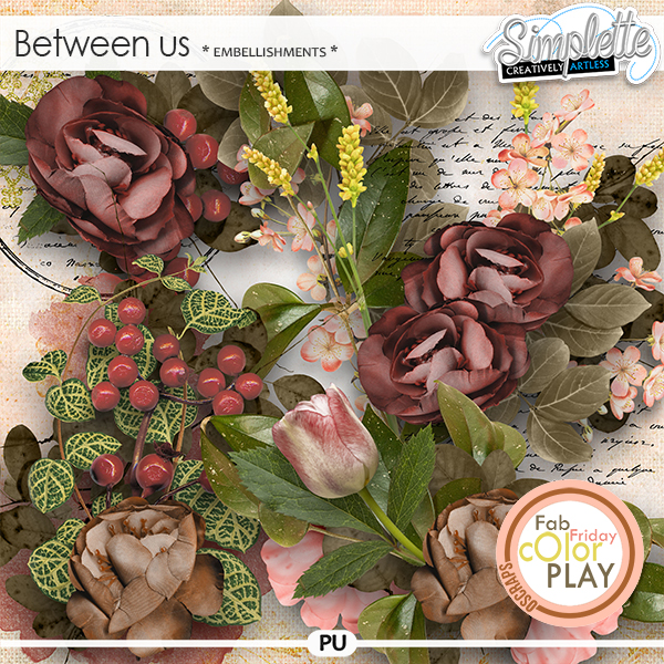 Between Us (embellishments) by Simplette | Oscraps