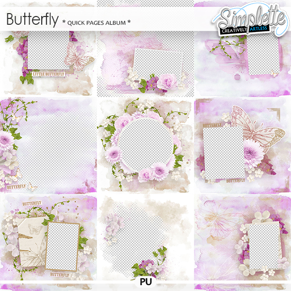 Butterfly (quick pages album) by Simplette