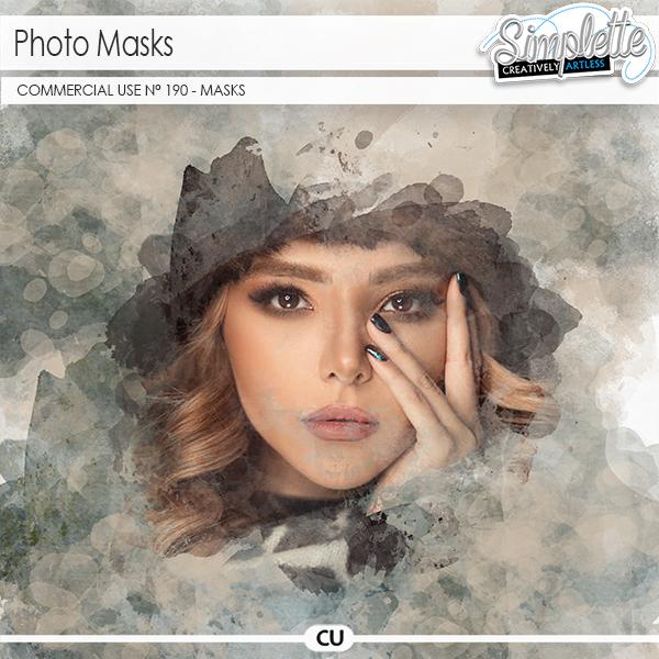 Photo masks (CU masks) 190 by Simplette   Oscraps