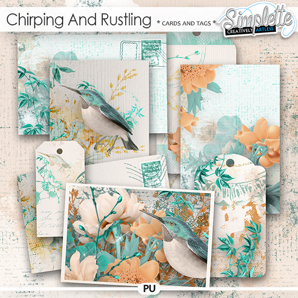 Chirping and Rustling (cards and tags) by Simplette