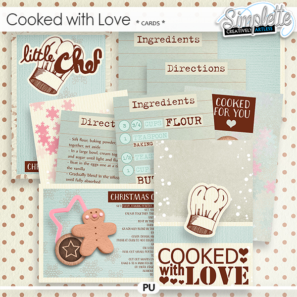 Cooked with Love (cards) by Simplette