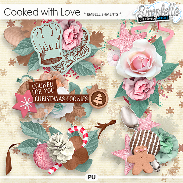 Cooked with Love (embellishments) by Simplette