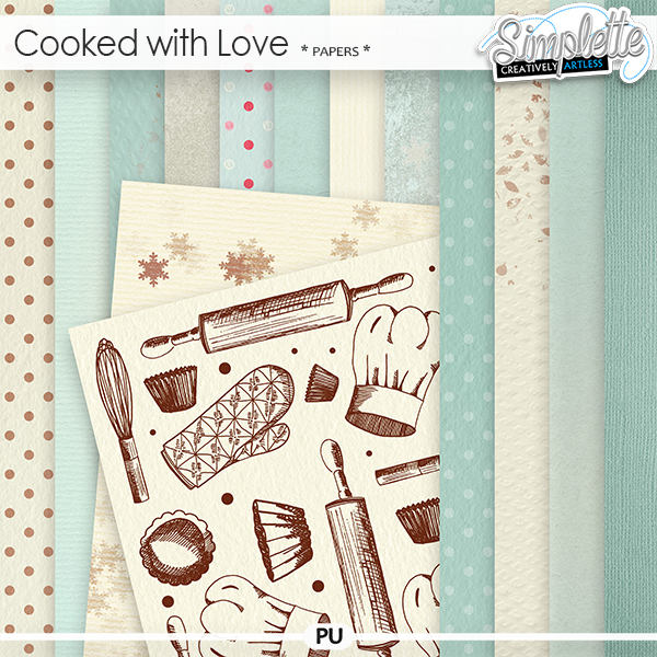 Cooked with Love (papers) by Simplette