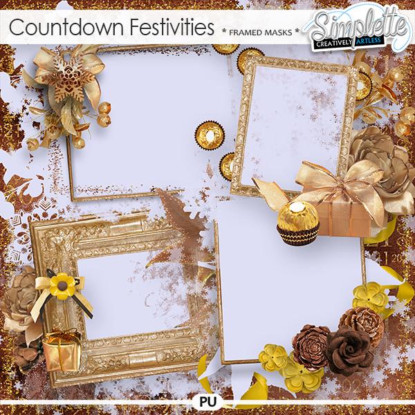 Countdown Festivities (framed masks) by Simplette
