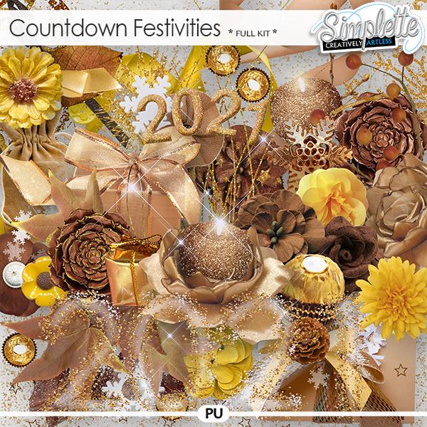Countdown Festivities (full kit) by Simplette