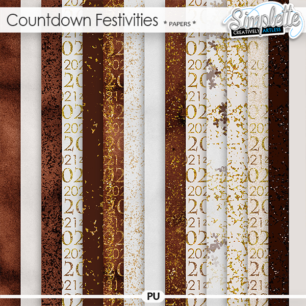 Countdown Festivities (papers) by Simplette