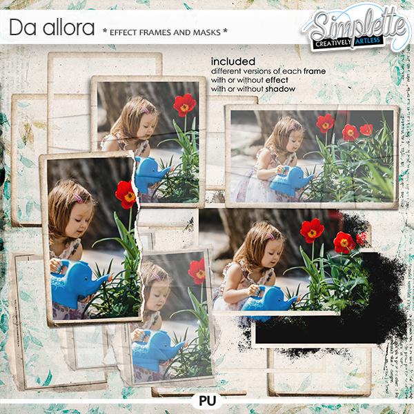 Da Allora (effect frames and masks)