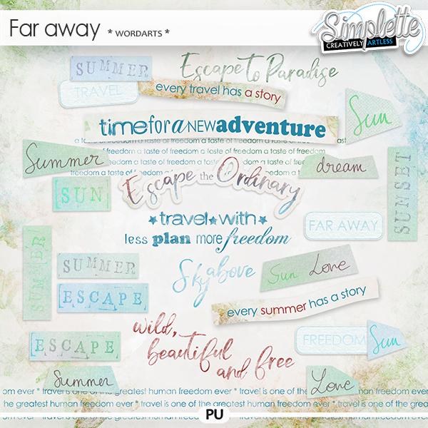 Far Away (wordarts)