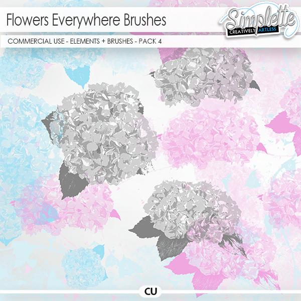 Flowers Everywhere - pack 4 (CU brushes)