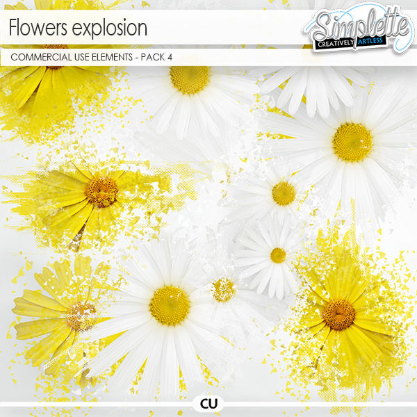 Flowers Explosion - pack 4 (CU elements)