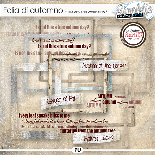 Folia di Automno (frames and wordarts) by Simplette