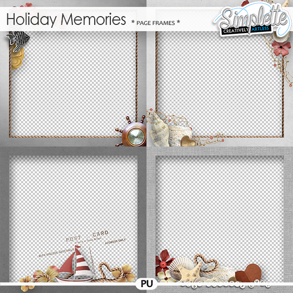 Holiday Memories (pages frames)