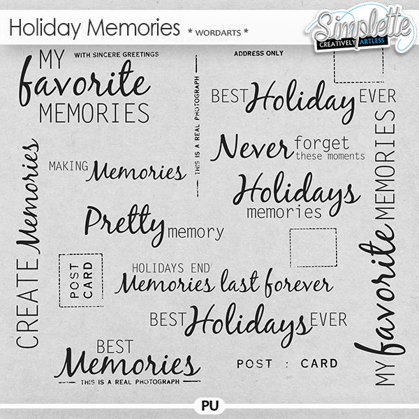 Holiday Memories (wordarts)