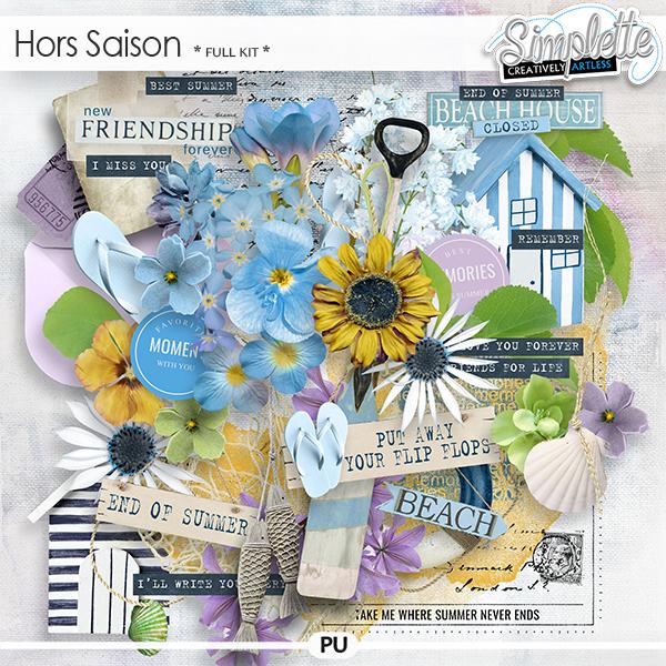 Hors Saison (full kit) by Simplette | Oscraps