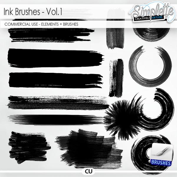 Ink Brushes (CU elements + brushes)